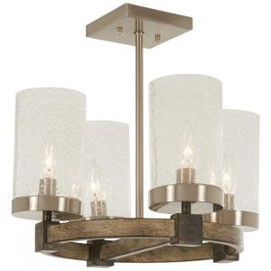 Bridlewood - 4 Light Semi-Flush Mount in Transitional Style - 13.75 inches tall by 15.75 inches wide