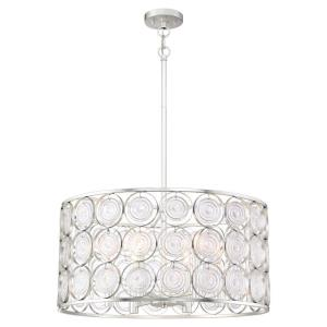 Culture Chic - 6 Light Pendant in Transitional Style - 12.25 inches tall by 24.5 inches wide