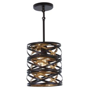 Vortic Flow - 1 Light Mini Pendant in Contemporary Style - 10 inches tall by 8.5 inches wide