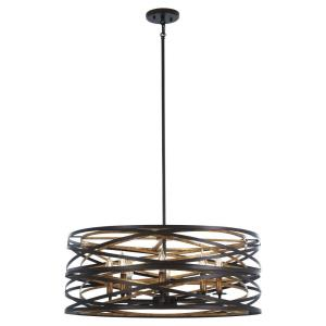 "Vortic Flow - 28"" Eight Light Pendant"
