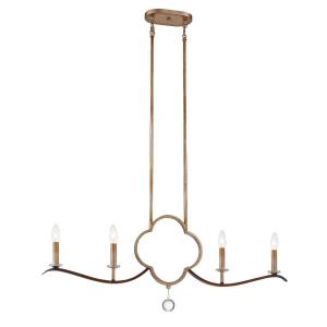 Ava Libertine - 4 Light Island in Traditional Style - 14.5 inches tall by inches wide