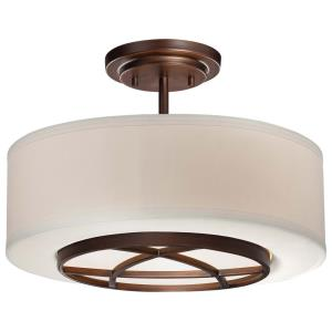 City Club - Three Light Semi-Flush Mount