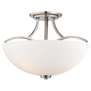 Overland Park - Three Light Semi-Flush Mount