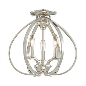 Tilbury - Three Light Semi-Flush Mount