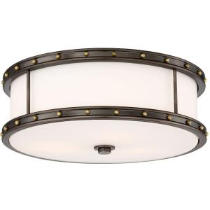 30W 1 LED Flush Mount in Transitional Style - 5.5 inches tall by 15.5 inches wide