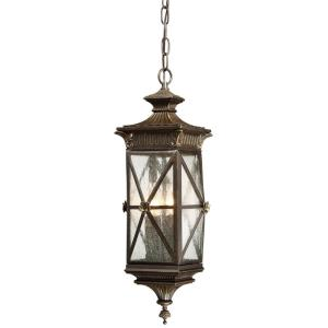 Rue Vieille - 4 Light Outdoor Chain Hung Lantern in Traditional Style - 22 inches tall by 8.75 inches wide