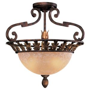 Zaragoza - Three Light Semi-Flush Mount