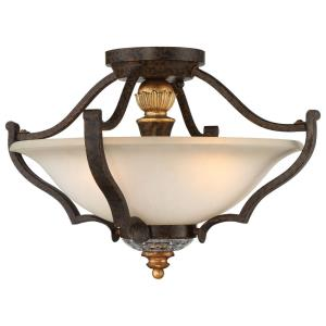 Chateau Nobles - Three Light Semi-Flush Mount