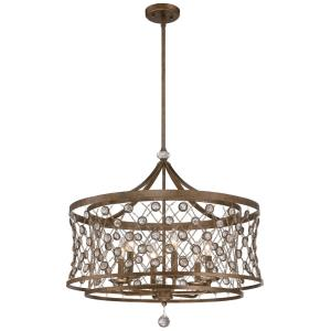 "Vel Catena - 27"" Six Light Pendant"