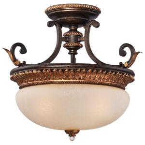 Bella Cristallo - Three Light Semi-Flush Mount