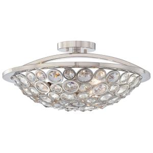 Magique - Three Light Semi-Flush Mount