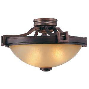 Underscore - Two Light Semi-Flush Mount