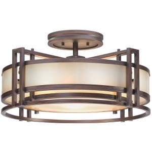 Underscore - Three Light Semi-Flush Mount
