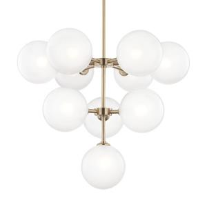 "Ashleigh - 29.75"" 40W 10 LED 3-Tier Chandelier"