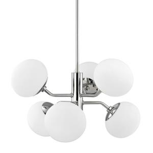 Estee-Six Light Chandelier in  Style-28 Inches Wide by 17.5 Inches High