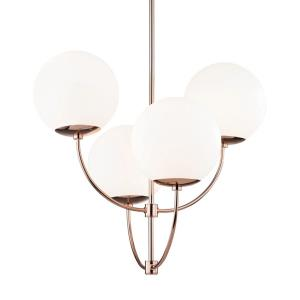 Carrie-Four Light Chandelier in  Style-29.75 Inches Wide by 27.5 Inches High