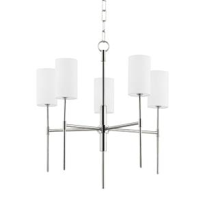 Olivia-5 Light Chandelier in Transitional Style-24 Inches Wide by 24.5 Inches High