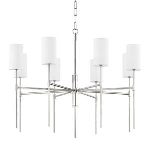 Olivia-8 Light Chandelier in Transitional Style-35 Inches Wide by 29 Inches High