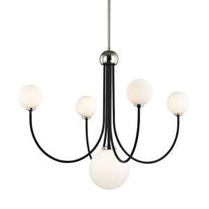 Coco-20W 5 LED Chandelier in  Style-30 Inches Wide by 27.5 Inches High