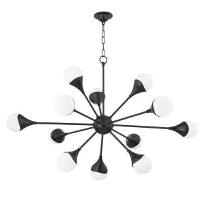 Ariana - 49.5 Inch 48W 12 LED 5-Tier Chandelier