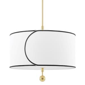 Zara-3 Light Large Pendant in Transitional Style-24 Inches Wide by 19.5 Inches High