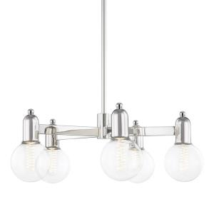 Bryce-5 Light Chandelier in Transitional Style-25 Inches Wide by 9.25 Inches High