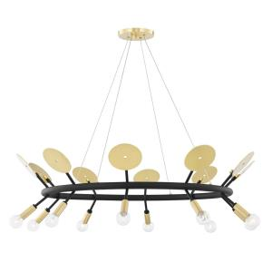 Fern-10 Light Chandelier in Modern Style-37 Inches Wide by 11 Inches High