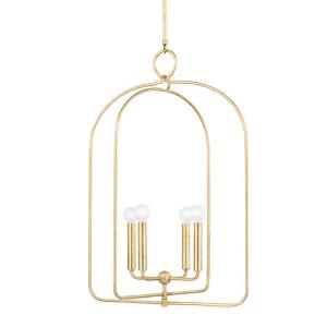 Mallory-4 Light Large Pendant in Transitional Style-22.5 Inches Wide