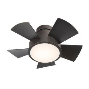 Vox - 26 Inch 5 Blade Flush Mount Ceiling Fan with LED Light Kit and Wall Control