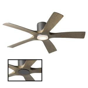 Aviator - 54 Inch 5-Blade Flush Mount Ceiling Fan with Wall Control