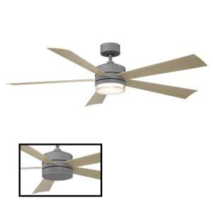 Wynd - 60 Inch 5 Blade Ceiling Fan with LED Light Kit and Wall Control