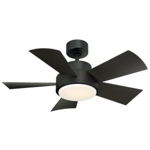 Elf - 38 Inch 5 Blade Ceiling Fan with LED Light Kit and Wall Control