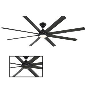 Hydra - 96 Inch 8-Blade Ceiling Fan with Light Kit and Wall Control