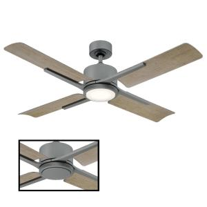 Cervantes - 56 Inch 4 Blade Ceiling Fan with Light Kit and Remote Control/Wall Cradle