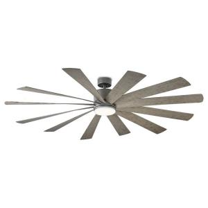 Windflower - 80 Inch 12 Blade Ceiling Fan with LED Light Kit and Wall Control