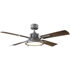 Nautilus - 56 Inch 4-Blade Ceiling Fan with Light Kit and Remote Control