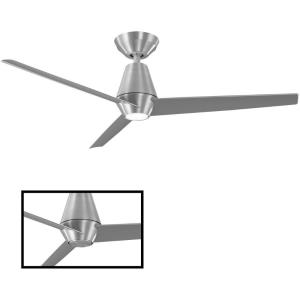 Slim - 52 Inch 3 Blade Ceiling Fan with LED Light Kit and Remote Control