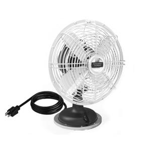 18 Inch Oscillating Plug-in Desk Fan with Three Speed Motor Control