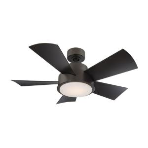 Elf - 38 Inch 5 Blade Ceiling Fan with 3000K LED Light Kit and Wall Control