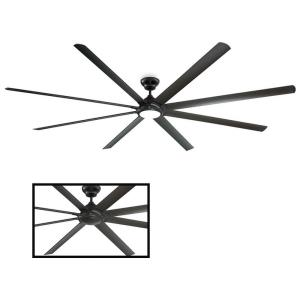 Hydra - 120 Inch 8 Blade Ceiling Fan with 3500K LED Light Kit and Wall Control