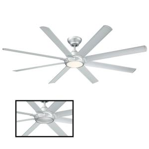 Hydra - 80 Inch 8 Blade Ceiling Fan with 2700K LED Light Kit and Wall Control