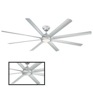Hydra - 96 Inch 8 Blade Ceiling Fan with 2700K LED Light Kit and Wall Control