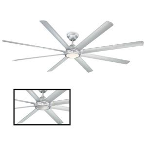 Hydra - 96 Inch 8 Blade Ceiling Fan with 3000K LED Light Kit and Wall Control