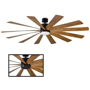 Windflower - 80 Inch 12 Blade Ceiling Fan with 3500K LED Light Kit and Wall Control