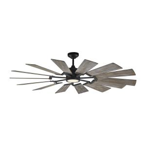 Prairie 62 14 Blade 62 Inch Ceiling Fan with Handheld Control and Includes Light Kit
