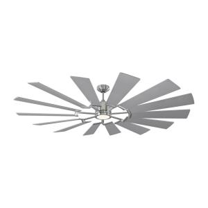 Prairie 72 14 Blade 72 Inch Ceiling Fan with Handheld Control and Includes Light Kit