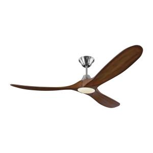 Maverick LED 3 Blade 60 Inch Ceiling Fan with Handheld Control and Includes Light Kit