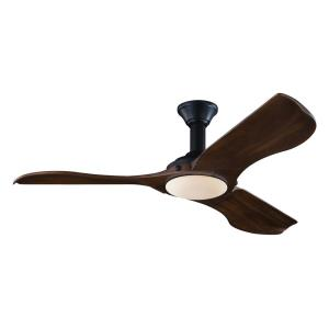 Minimalist 3 Blade 56 Inch Ceiling Fan with Handheld Control and Includes Light Kit