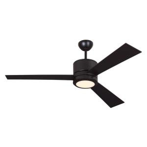 3 Blade Ceiling Fan with Handheld Control in Modern Style - 52 Inches Wide by 14.6 Inches High