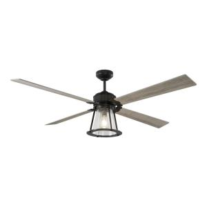 Rockland 4 Blade 60 Inch Ceiling Fan with Handheld Control and Includes Light Kit